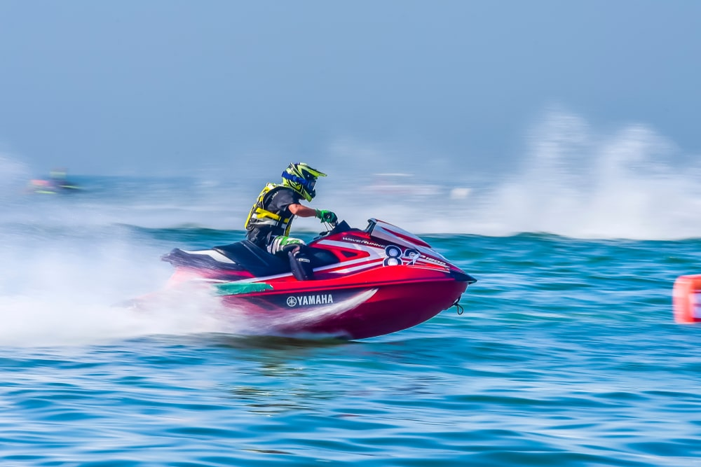 A motorcycle that turns into a jet ski